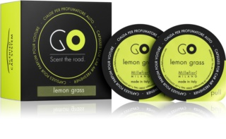Millefiori GO Lemon Grass Car Air Freshener 2 kpl Refill