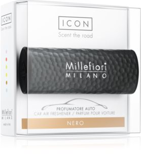 Millefiori Icon Nero parfum pentru masina   Hammered Metal