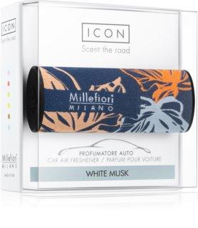 Millefiori Icon White Musk ambientador de coche para ventilación Textile Geometric