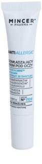 Mincer Pharma AntiAllergic N° 1100 krema proti gubam za predel okoli oči za občutljivo in pordelo kožo