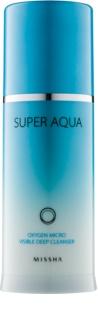 Missha Super Aqua Oxygen киснева очищуюча пінка