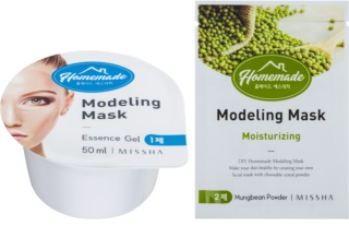Missha Homemade Mungbean Powder modelačná pleťová maska s hydratačným účinkom