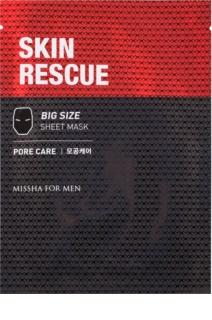 Missha For Men Skin Rescue szövet arcmaszk tisztító hatással uraknak