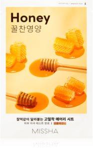 Missha Airy Fit Honey λαμπρυντική υφασμάτινη μάσκα λάμψης