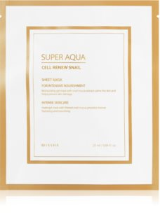 Missha Super Aqua Cell Renew Snail Moisturising and Soothing Sheet Mask With Snail Extract