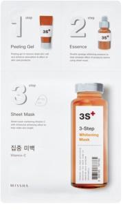 Missha 3-Step máscara branqueadora em 3 passos