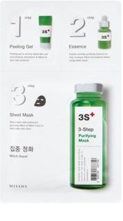 Missha 3-Step tisztító maszk 3 lépésben