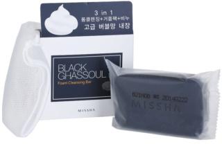Missha Black Ghassoul jabón limpiador para pieles acnéicas