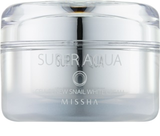 Missha Super Aqua Cell Renew Snail озаряващ крем с екстракт от охлюв
