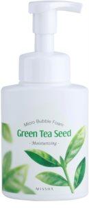 Missha Green Tea Seed hidratáló tisztító hab mikro buborékokkal