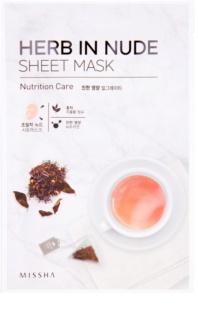 Missha Herb in Nude máscara em folha com efeito nutritivo
