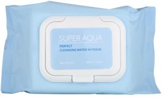 Missha Super Aqua Perfect почистващи кърпички за лице с хидратиращ ефект