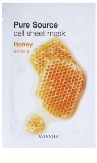 Missha Pure Source платнена маска с озаряващ и хидратиращ ефект