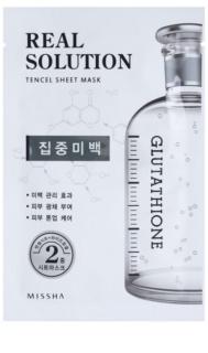 Missha Real Solution Sheet maska s izbjeljivajućim učinkom