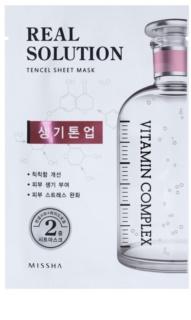 Missha Real Solution plátenná maska s rozjasňujúcim účinkom