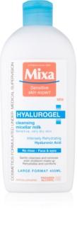 MIXA Hyalurogel čisticí pleťové mléko pro suchou až velmi suchou pleť