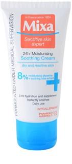 MIXA 24 HR Moisturising kojący krem nawilżający dla skóry wrażliwej i alergicznej