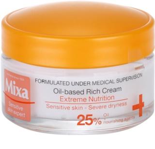 MIXA Extreme Nutrition gazdagon tápláló krém ligetszépe olajjal és hidratáló összetevőkkel