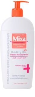 MIXA Intense Nourishment tápláló testápoló krém a nagyon száraz bőrre