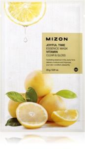 Mizon Joyful Time máscara de limpeza em folha com efeito refrescante