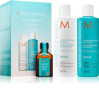 Moroccanoil Moisture Repair Cosmetic Set (For Damaged, Chemically Treated Hair)