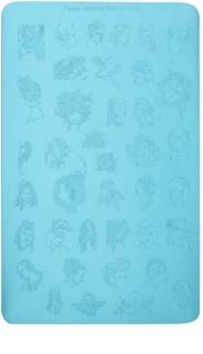 Moyra Nail Art Faces carte de timbru pentru unghii