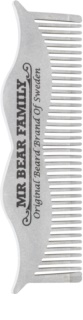 Mr Bear Family Grooming Tools Bartkamm aus Stahl