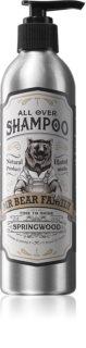 Mr Bear Family Springwood természetes sampon uraknak