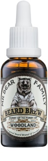 Mr Bear Family Woodland olio da barba