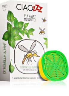 Mr & Mrs Fragrance Ciaozzz Citronella & Mint recharge pour diffuseur d'huiles essentielles   capsules (Mosquito Repellent)