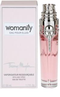 Mugler Womanity Eau pour Elles toaletna voda za ženske 50 ml polnilna