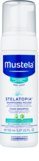 Mustela Bébé Stelatopia penový šampón pre deti od narodenia