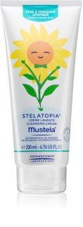Mustela Bébé Stelatopia crema limpiadora suave para pieles muy secas, sensibles y atópicas