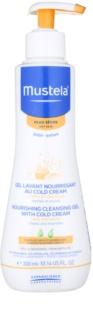 Mustela Bébé Dry Skin nährendes Reinigungsgel mit Schutzcreme zur Erneuerung der Hautbarriere für Kinder ab der Geburt