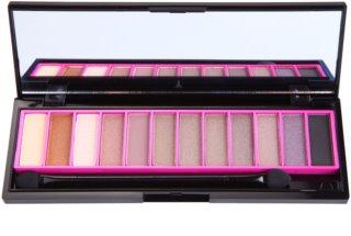 Naras Saturn 12 Colors paleta de sombras de ojos con espejo y aplicador