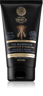 Natura Siberica For Men Only agyagos maszk a borotválkozáshoz és a bőrtisztításhoz