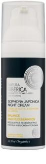 Natura Siberica Sophora Japonica Regenerierende Nachtcreme für fettige und gemischte Haut