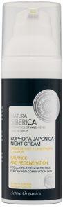 Natura Siberica Sophora Japonica creme de noite regenerador para pele oleosa e mista