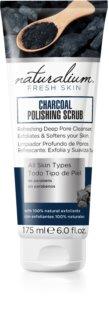 Naturalium Fresh Skin Charcoal élénkítő testpeeling