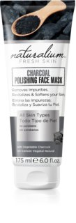 Naturalium Fresh Skin Charcoal máscara facial de limpeza iluminadora
