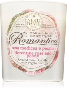 Nesti Dante Romantica Florentine Rose and Peony Scented Candle 160 g