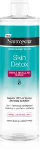 Neutrogena Skin Detox Micellar Cleansing Water for Waterproof Make-up