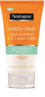 Neutrogena Visibly Clear Spot Proofing очищуюча емульсія та маска 2в1