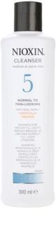 Nioxin System 5 čisticí šampon pro mírné řídnutí normálních až silných, přírodních i chemicky ošetřených vlasů
