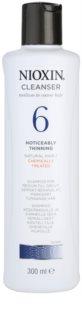 Nioxin System 6 tisztító sampon vegyileg kezelt finom, normál vagy erős szálú haj jelentős ritkulása ellen