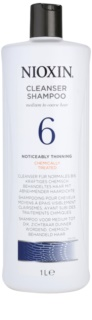 Nioxin System 6 очищуючий шампунь для нормального, грубого та  хімічно пошкодженого волосся з  тенденцією до активного випадіння