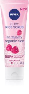 Nivea Rice Scrub Raspberry rozjasňujúci peeling pre citlivú pleť