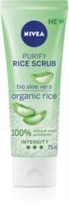 Nivea Rice Scrub Aloe Vera čistiaci pleťový peeling