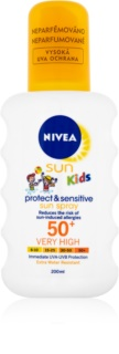 Nivea Sun Kids слънцезащитен спрей за деца SPF50+