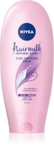 Nivea Hairmilk Natural Shine Βάλσαμο μαλλιών για μπούκλες